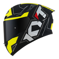 KYT TT-COURSE - Electron Matt Black/Yellow