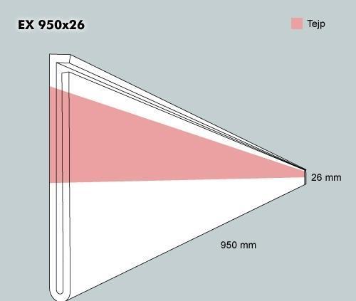 Etiketth. EX 950-26F rak tejp
