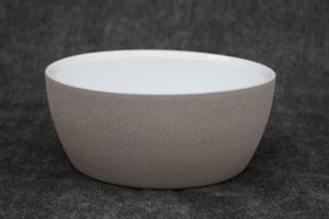 Skål Keramik grå/vit D23cm 2/fp