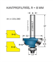 Kantprofilfräs CAVETTO R=8 L=14 F=9.5