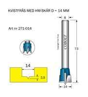 HM Kvistfräs D=14 TL=73 S=8