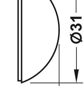 Dørstopper Ø31x12 mm Hvit - 2 stk