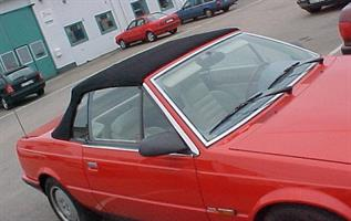 Sufflett Maserati Bi-Turbo 86-94 tyg svart