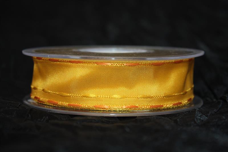Band 25 mm 25 m/r guldgul med tråd