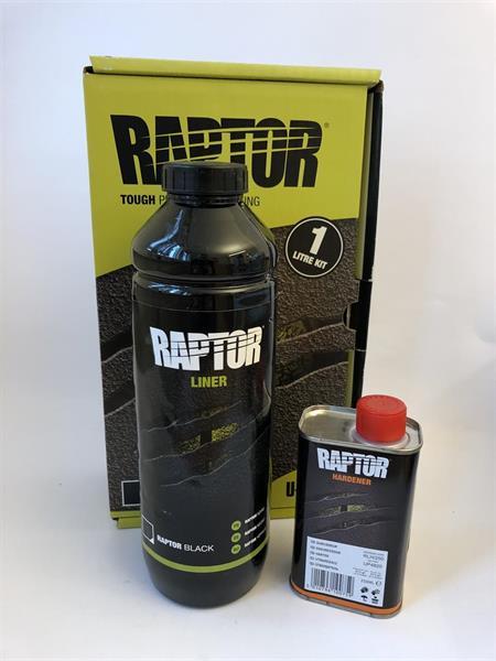 U-Pol Raptor Tough & Protective Bed Liner Black 1 Liter Kit, RLB/S1