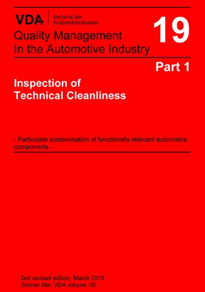 VDA Vol 19.1Kontroll av teknisk renhetsgrad (E)