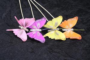 Fjäril mix på 50cm lång pinne 36/fp