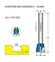 HM Kvistfräs D=16 TL=72 S=8