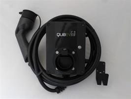 QUBev 7,4 kW ladeboks med 10m T2 kabel og 6mA RCD