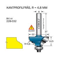 Kantprofilfräs R=4.8 L=14.5 F=9.5