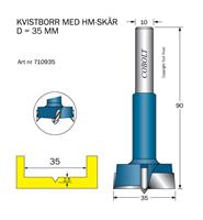 HM Kvistborr D=35 TL=90 S=10