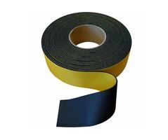 Gummistrips 70x3 mm sort m.lim SBR/NR - Løpemeter
