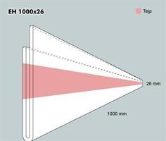 Etiketth. EH 1000-26F rak tejp