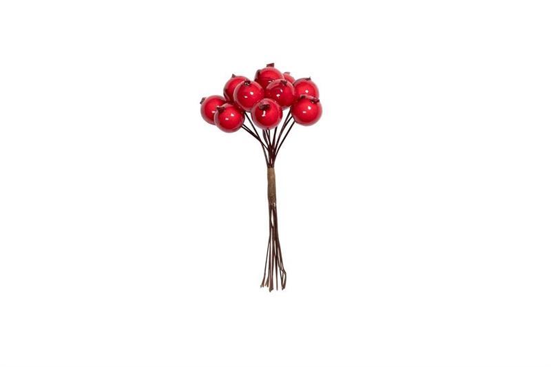 Röda Bär med tråd 1,6cm 144st/fp