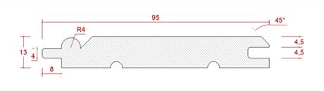 13x95 Furu Innerpanel Pärlspont 20.00 kr/lm