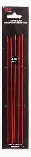 Järbo Garn strumpsticka 20 cm/3,0 mm röd