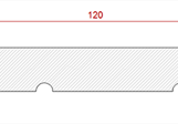 13x120 Furu Innerpanel Spårpanel 4019 25.00 kr/lm