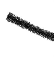 Ventilfyll 380x15x15 mm sort - 1 stk