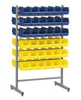 Backställ komplett 36 st blå/36 st gul plastbackar