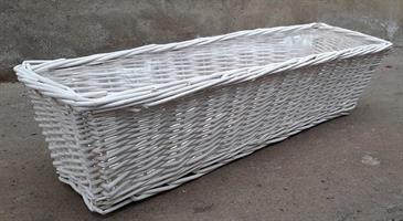 Balkonglåda korg vit olika storlekar