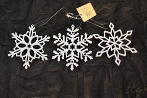 Snöflinga med hänge silver 9/fp