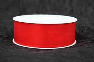 Band 40 mm 50 m/r röd taft utan tråd