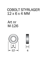 M-126 Kullager 12 x 6 x 4 mm
