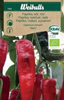 Paprika 'Xaro' söt röd Krav Organic