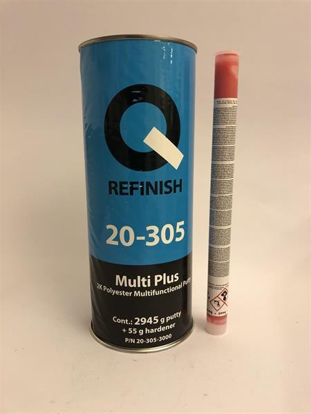 Q-Refinish Multi Plus Polyesterspackel 3 kg Ex Centerhål, 20-305-3000