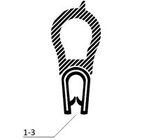Kantprofil ST 36.820 sort (1-3 mm) - Løpemeter