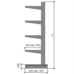 Grenställ komplett 2 pelare H=2000  A=600