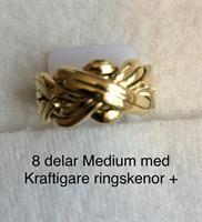 PUZZELRING  8 Delar MEDIUM+ Kraftiga ringskenor 9K GULD
