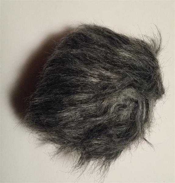 Kinna Textil Tofs mörkgrå polyester