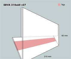 Etiketthållare EBVA 210-60F vinklad 27°