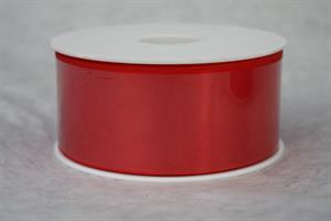 Band 40 mm röd satin 25 m/r ej tråd