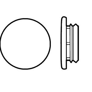 Karmplugg 14 mm Hvit - 16 stk