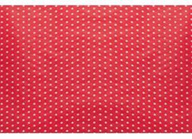 Pappersrulle röd/vit prickig 8kg/r
