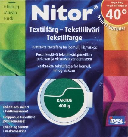 TEXTILFÄRG KAKTUS 40 NITOR