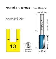 Notfräs D=10 L=20 TL=53 S=6