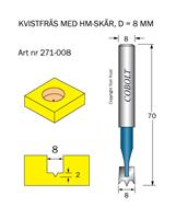 HM Kvistfräs D=8 TL=70 S=8