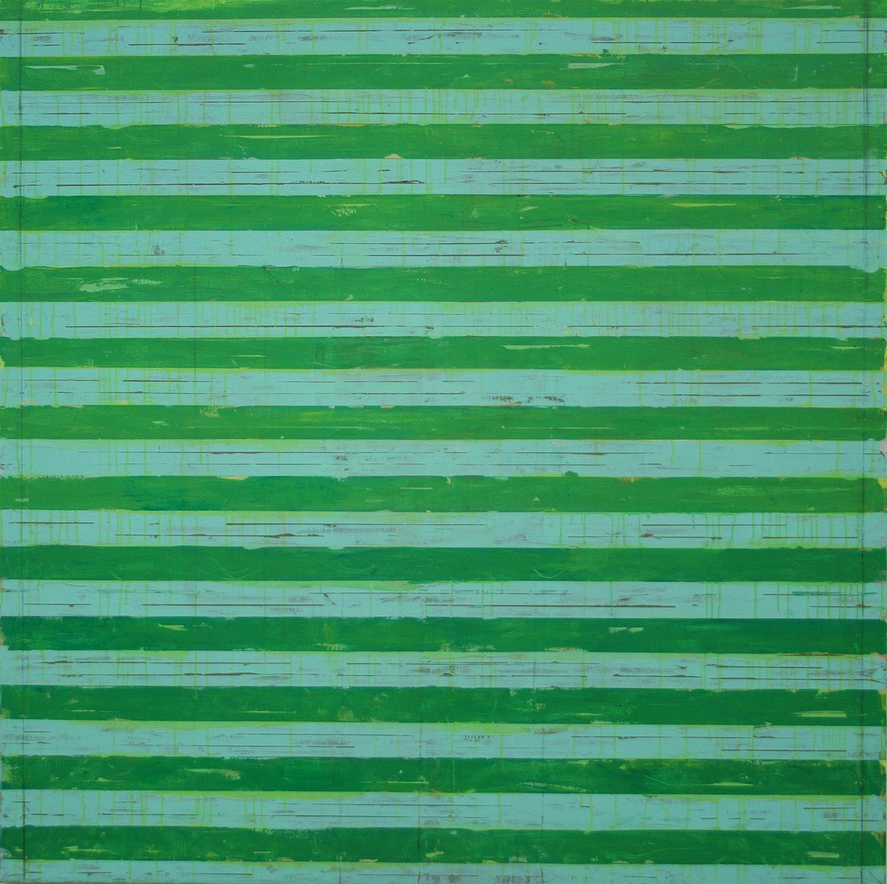 COVERED WITH GREEN AND BLUE 180X180 CM 2017