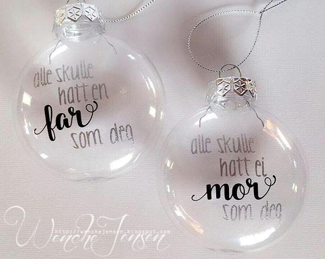 Julekuler til far og mor