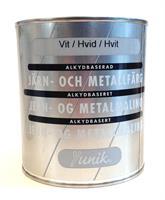 Järn&Metallfärg  Vit..0,75 L
