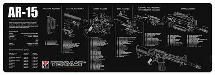 Tekmat AR-15 Aseen puhdistus/huoltomatto