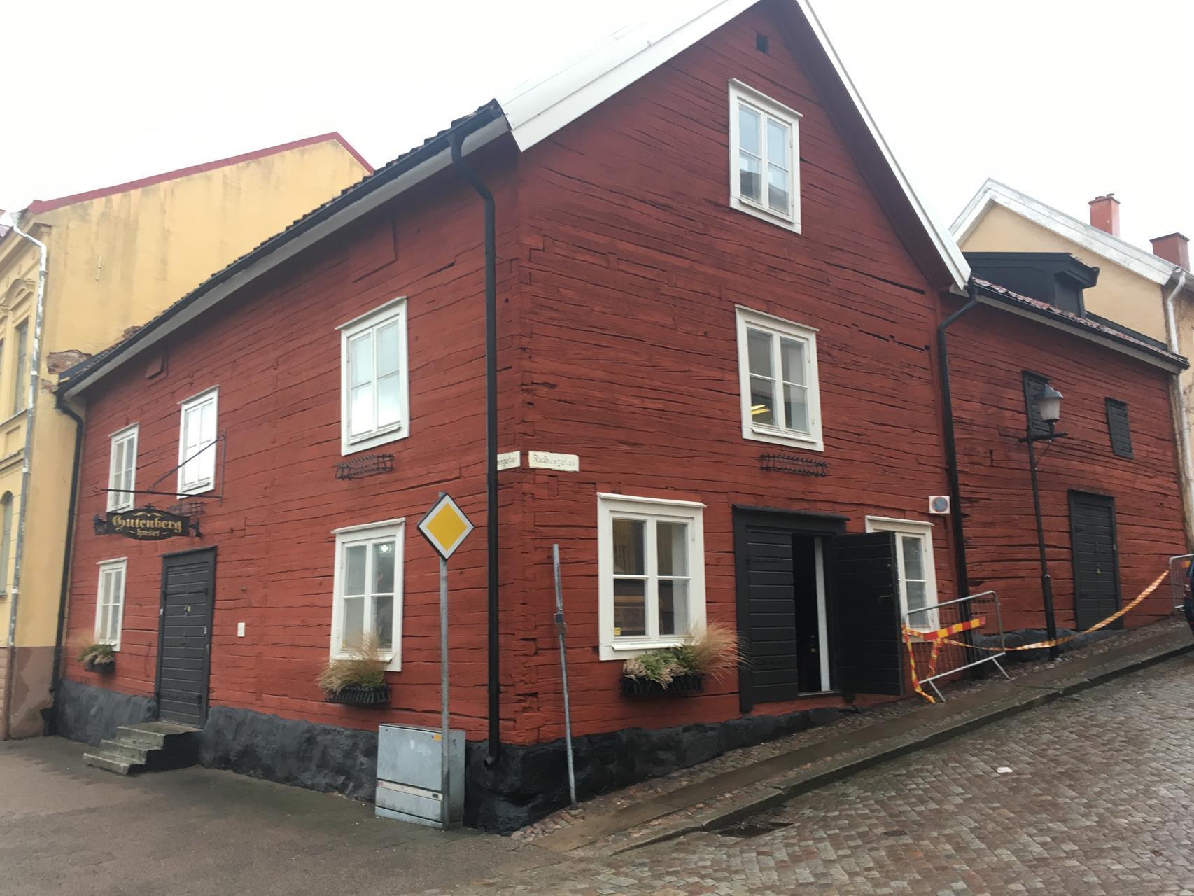 Restaurering av Gutenberghuset i Mariestad.