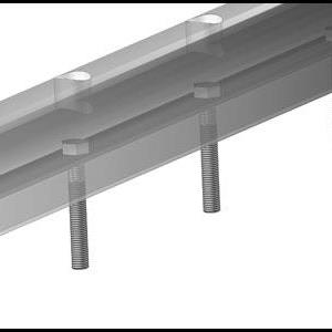 Bryggefender 60x50 mm sort  - 1 meter