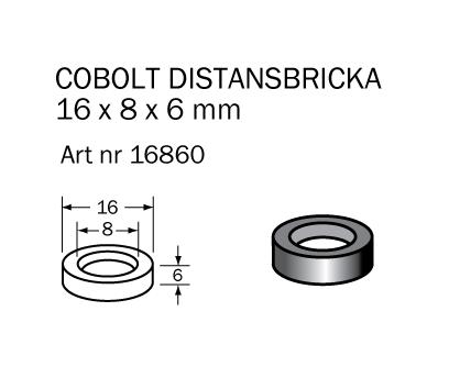 Distansring 16x8x6,0 mm