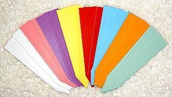 Sticketikett plast 40 st bl. färger