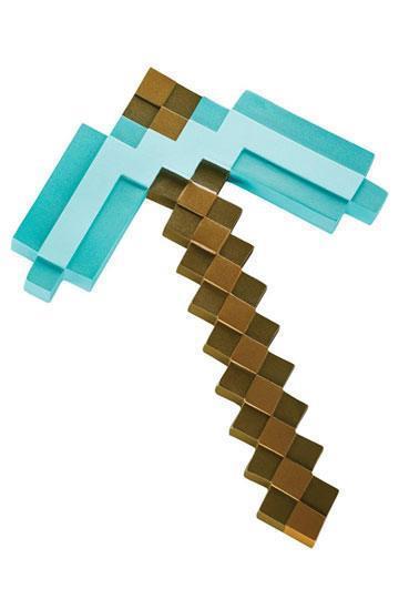 Minecraft Plastic Replica, Dimond Pickaxe