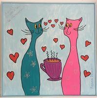 Kärlek är att drika te tillsammans